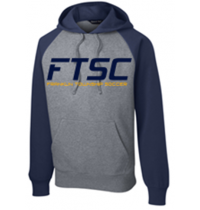 San Mar/Sport-Tek Raglan Colorblock Hooded Sweatshirt FTSC