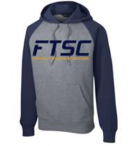 Raglan Colorblock Pullover Hooded Sweatshirt FTSC